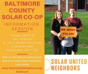 Baltimore County Solar Co-op Info Session @ St. John's Western Run Parish