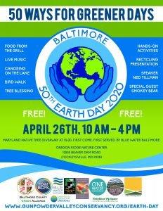 Baltimore Earth Day 2020 @ Oregon Ridge Nature Center